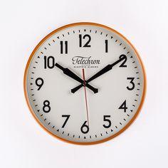 The Corby Wall Clock - Orange  http://www.franceandson.com/modern-the-corby-wall-clock-orange.html