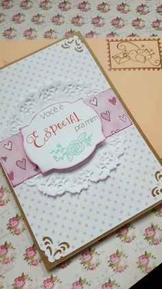 Cartão artesanal para o dia dos namorados