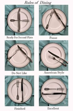 The Ace of Entertaining :: The Art of Dining eindecken ? Dinning Etiquette, Table Setting Etiquette, Comment Dresser Une Table, Cena Formal, Etiquette And Manners, Useful Life Hacks, Simple Life Hacks, Kitchen Hacks, Kitchen Rules