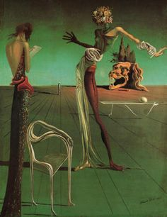 Salvador Dali - Femme a tete de roses, 1935