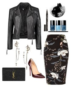"""Sans titre #7"" by justines-1 on Polyvore featuring mode, River Island, Boohoo, Alexander McQueen, Christian Louboutin, Smith & Cult et Yves Saint Laurent"