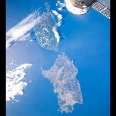 Корсика и Сардиния. (Corsica and Sardinia)  #мкс #iss #космос #cosmos #space #планета #земля #planet #earth #BlueDot #Корсика #Сардиния #Corsica #Sardinia by olegmks