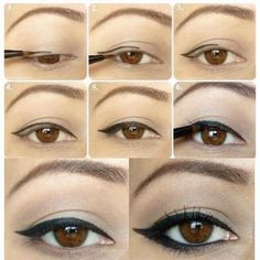 step by step instructions for eyeliner