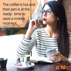 The coffee is hot and their pen is at the ready - time to seize a mobile moment. #coffeebreak #akimoments #mobilemoments #primetargeting #mobileads #startuplife #adtech #mobileroi #betterads #bettermobile #mobilelife #technology #martech #adreceptivity #brands #advertisers #mobileengagement #mobilemarketing #advertising #marketing #ads
