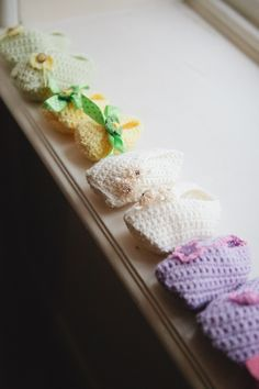 Baby Booties by Helda Panagary.  © Tailor Made Publishing Ltd