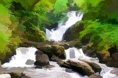 Lanjee Chee - Waterfall in hills