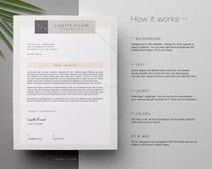 Page Resume Template And Cover Letter For Word  Instant Download