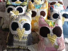 Whooo loves you Baby!  Facebook.com/moxieandzab.   Vintage chenille owls