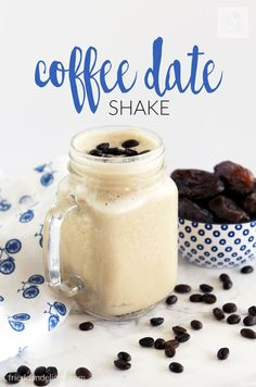 This quick and easy Coffee Date Shake is sure to get you up and running in the morning! Packed with protein, it's my go to breakfast!
