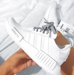 bba498728 All white nmd adidas trainers ✨ White Tennis Shoes