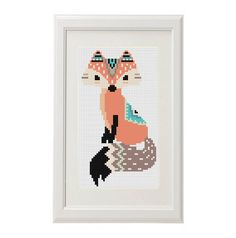 Fox motif de point de croix renard stylos conception ethnique Cross Stitch Motif moderne crossstitch motif de point de croix drôle d'animal par AnimalsCrossStitch sur Etsy https://www.etsy.com/fr/listing/285749029/fox-motif-de-point-de-croix-renard