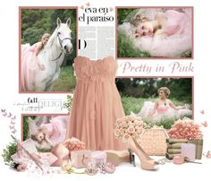 """PRETTY IN PINK"" by paolafashion ❤ liked on Polyvore"