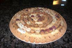Wine Cork Trivet With Dates