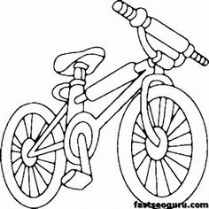 Printable bike BMX coloring page for kids - Printable Coloring Pages For Kids