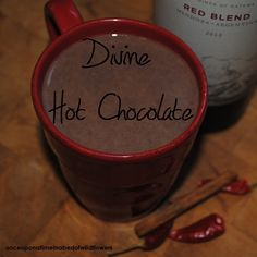 Divine Hot Chocolate with Red Wine | As seen at the #WholefoodBlenderParty #wwbp