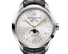 Baume Mercier Clifton Calendar Silver Dial
