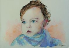 Acoustic Drawings The Shinji Ogata Gallery: A Beautiful Blue-eyed Little Girl 美しい青い瞳の少女