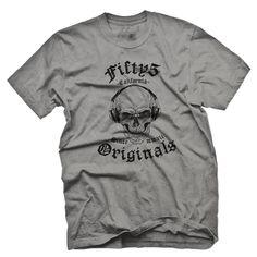 Fifty5 Originals Music Skull Men's Pigment Dye T Shirt