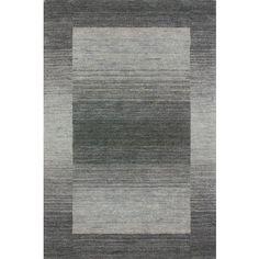 Tapis 100% laine fait à la main coloris gris