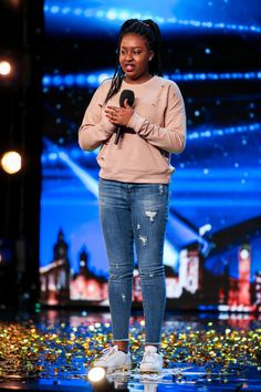 Britains Got Talents Simon Cowell hits his Golden Buzzer for teenage singer Sarah Ikumu after her