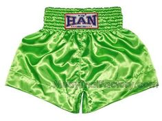 Han Muay Thai HAN Muay Thai Boxing Shorts - Plain - Light GREEN for sale. [HN-S-001-LGREE]