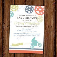 Dirt Bike Baby Shower Invitation  Printable File by ScriptivaPaper, $15.00