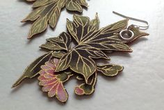 Floral fabric earrings by MademoiselleGustave on Etsy, $25.50