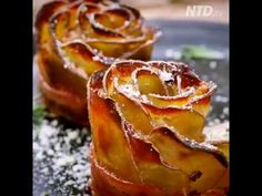 ‪NTD Television   Crispy Potato Roses Wrapped in Bacon‬