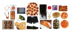 """""""I LOVE PIZZA!!"""" by vale-mancera ❤ liked on Polyvore featuring Abercrombie & Fitch, TOMS, claire's, Junk Food Clothing and pizza"""