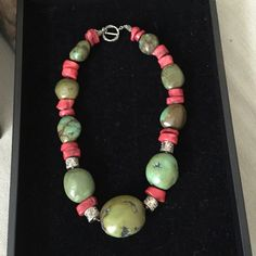 Sea bamboo coral & turquoise, sterling silver Bali Genuine (real) sea bamboo coral and turquoise with sterling silver Bali beads Jewelry