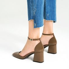 Pin for Later: This 1 Type of Shoe Is the Key to Staying Polished on Vacation  Zara D'Orsay Shoes With Ankle Strap ($50)