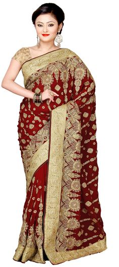 155952: color family Saree with matching unstitched blouse.