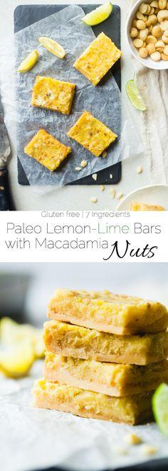 Tropical Paleo Lemon-Lime Bars with Macadamia Nuts #justeatrealfood #foodfaithfitness