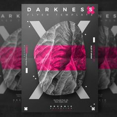Creative dark event flyer Free Psd