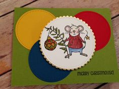 Merry Mice meets Stitched Shapes framelits Stamp Pad, Mice, Stampin Up, Coasters, Merry, Shapes, Stitch, Creative, Full Stop