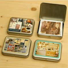 Instax Mini Photo Box & Sticker Set or use altoid box for social security cards in safety deposit box Fuji Instax Mini 8, Instax Mini Album, Instax Mini Camera, Fujifilm Instax Mini 8, Instax 8, Instax Share, Mini Polaroid, Photo Projects, Diy Craft Projects