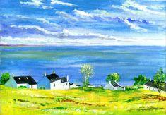 Original Acrylic Corrie Village Isle of Arran by Scottish artist David Tyrrell   | eBay