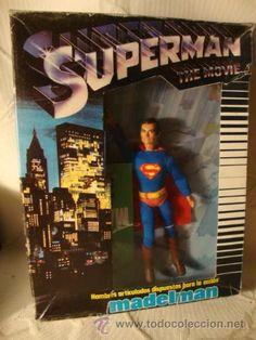 ¡¡¡LOS ORIGINALES!!! MADELMAN SUPERMAN EN CAJA REF 1300 CATALOGO, ORIGINAL MADEL S.A 80 EXCELENTE.