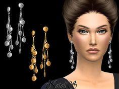 The Sims 4 Mody: Zwisające kolczyki od NataliS