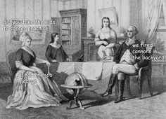 Someone decided to add captions to the adventures of George Washington (13 photos)