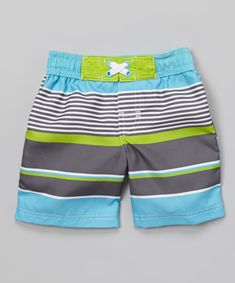 Water-loving lads love these comfy and cool shorts! An elastic waistband ensures these bottoms stay snug and in place no matter how wavy the water, while the soft and stretchy material ensures ultimate comfiness while splashing about.