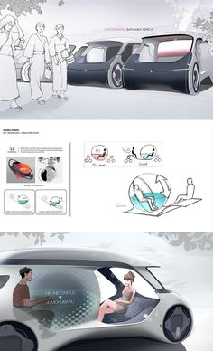 Honda Onsen is a Strange Autonomous Electric Vehicle with an Integrated Hot Bath Car Design Sketch, Car Sketch, Electric Cars, Electric Vehicle, Future Transportation, Solar Car, Industrial Design Sketch, City Car, Cool Sketches