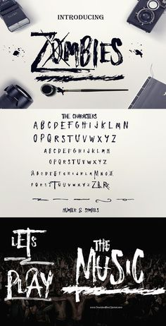 Zombies Font > Use Enjoy the Ride #typeface to make #logo marks, posters…