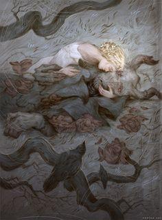 THRENETIC[adjective]pertaining to a threne; sorrowful; mournful; lamentation.Etymology: from Greek thrēnos (dirge).[Rovina Cai]