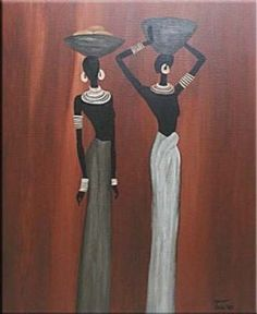 ampliar African Drawings, African Art Paintings, Africa Painting, Africa Art, African Beauty, African Women, Indian Contemporary Art, Peruvian Art, Clay Wall Art