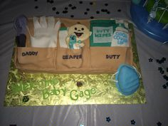 Daddy diaper duty apron cake