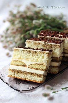 Discover recipes, home ideas, style inspiration and other ideas to try. Polish Desserts, Polish Recipes, Polish Cake Recipe, Cappuccino Recipe, Behr, Delicious Desserts, Yummy Food, Cake Flavors, Food Cakes