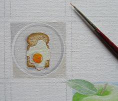 Dag 10 van project Winterlicht. Acrylverf op doek 5 x 5 cm.