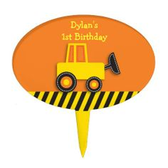 Shop Construction Truck Cake Topper created by PoshPartyPrints. Baby Shower Cakes, Baby Shower Parties, Unique Birthday Cakes, Truck Cakes, Cake Picks, Personalized Cake Toppers, Cake Smash, Safe Food, Trucks