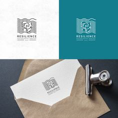 Logo design by vraione for Resilience Psychological Services. Minimal waveform lines create an intricate and beautiful design. #branding #medical #art